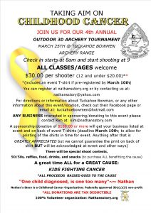 archery tournament flier2018